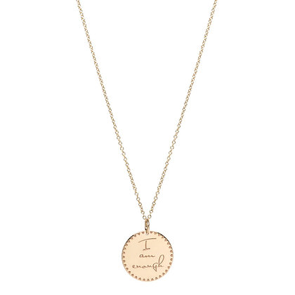 Zoe Chicco 14ct gold 'I am enough' mantra necklace