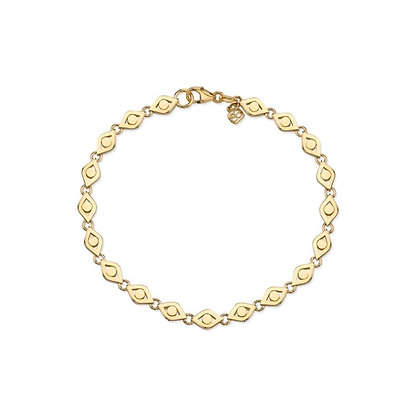 Sydney Evan 14ct gold evil eye link bracelet