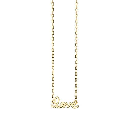 Sydney Evan 14ct gold love necklace