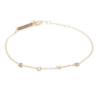 Zoe Chicco 14ct gold and diamond 'love' bracelet