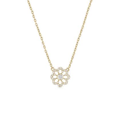 Noush 14ct gold and diamond 'Fleur du ciel' necklace