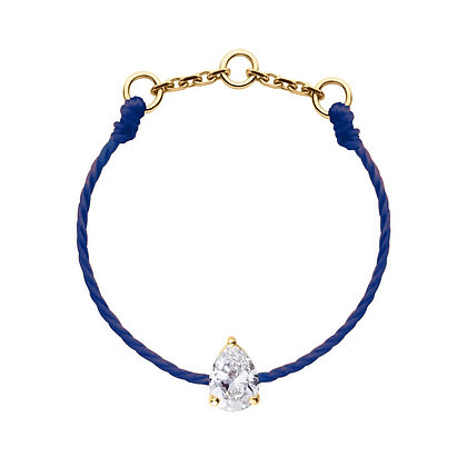 Redline 18ct gold and blue diamond 'Altesse' thread ring