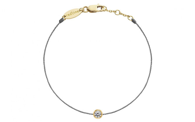 Redline 18ct gold and grey Illusion thread diamond bracelet