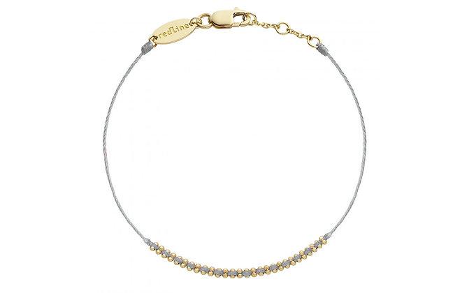 Redline 18ct gold and grey 'Eclipse' thread bracelet