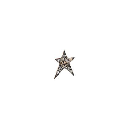 Kismet by Milka 14ct rose gold and diamond struck large star stud (single)