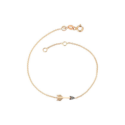 Kismet by Milka 14ct rose gold arrow bracelet