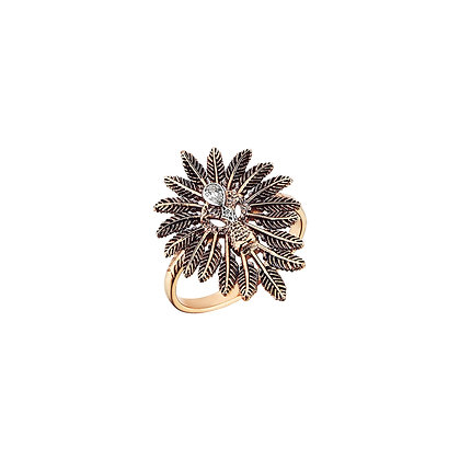 Kismet by Milka 14ct rose gold and diamond lion ring