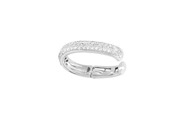 EF Collection 14ct white gold and diamond ear cuff (single)