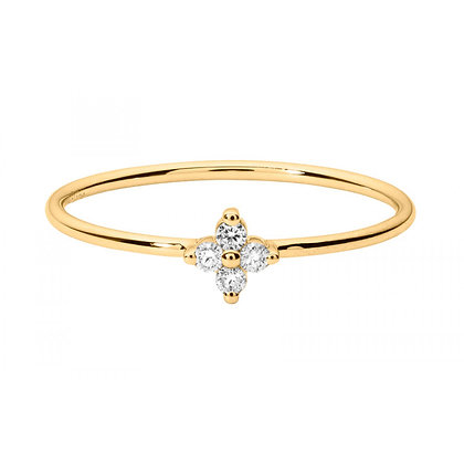 Redline 18ct gold and diamond star ring