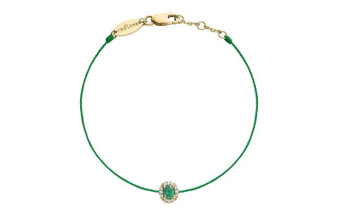Redline 18ct gold, diamond and emerald thread bracelet