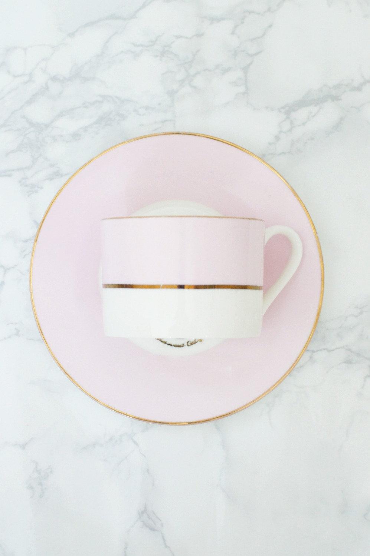 Menu A- Pastel cup and saucer set