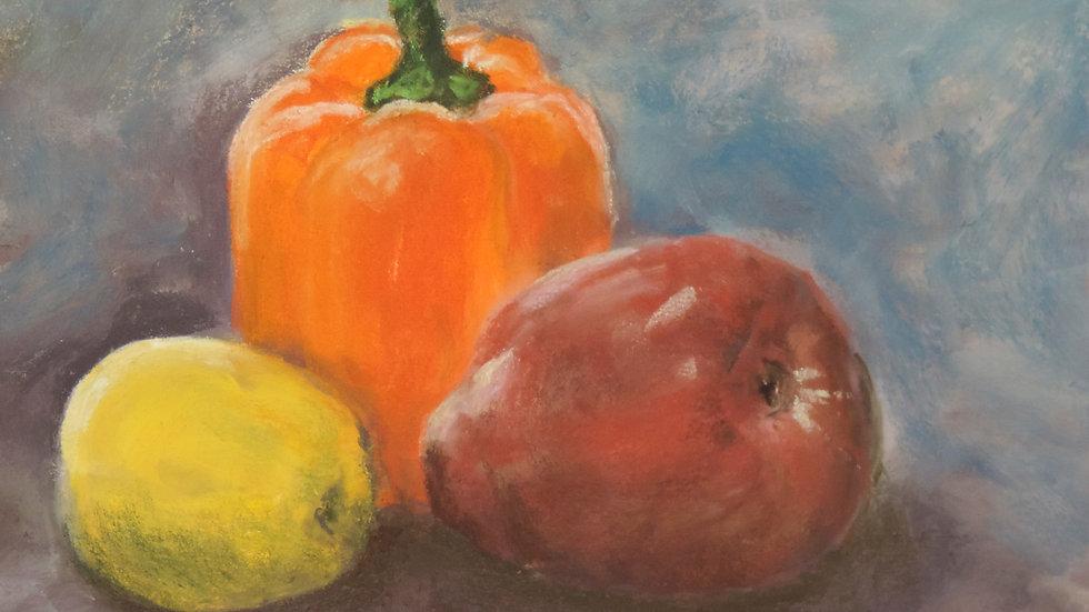 Orange Pepper with Fruit