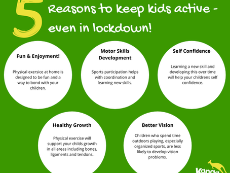5 reasons to keep kids active, even in lockdown.