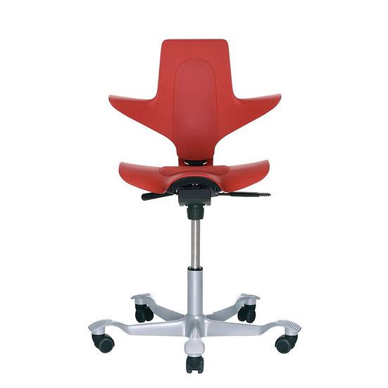 כיסא משרדי פלסטי אדום