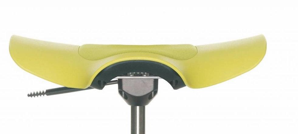 כיסא משרדי ריפוד חלקי צהוב