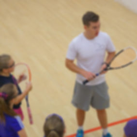 Matt Davies coaching squash
