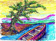 Boot im Fluß