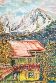 Der Watzmann mit Haus