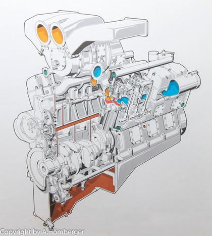 Großdieselmotor