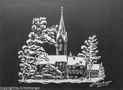 Kirche Eriskirch (Kartenmotiv)