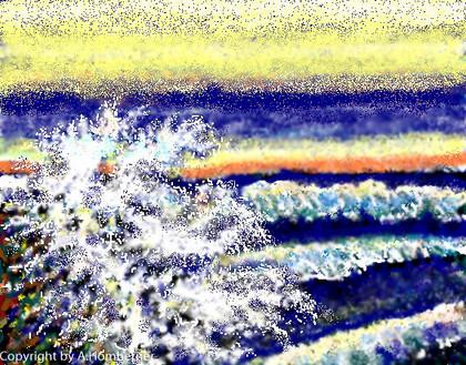 Brandung am Meer