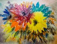 Blumengruß farbig