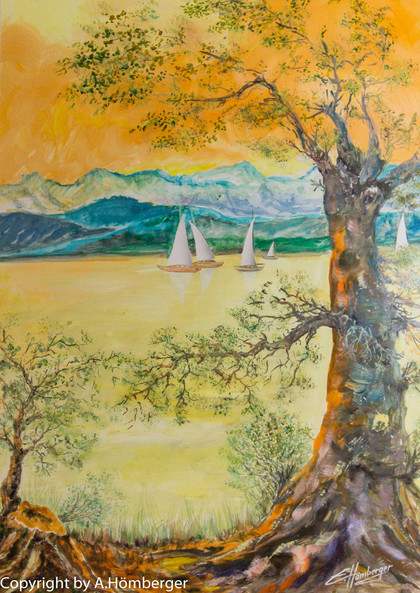 Baum mit Segler (Bodensee)