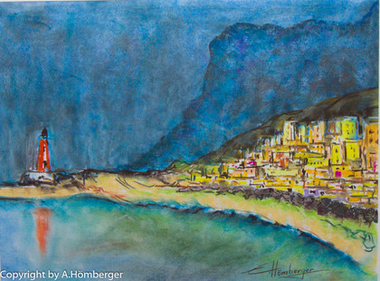 Cran  Canaria Leuchtturm an der Küste