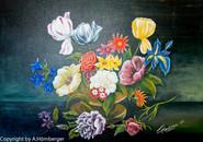 Blumenstrauß in Öl