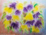 Blumen Lila und Gelb