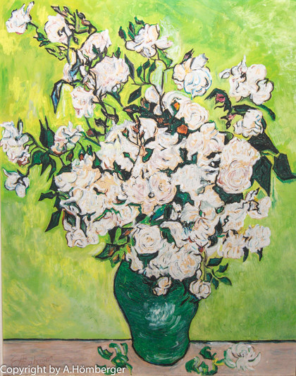 Weiße Rosen (Kopie von Vincent van Gogh)