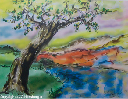 Farbige Landschaft