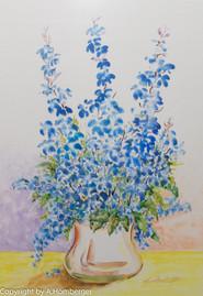 Lupinen in Vase