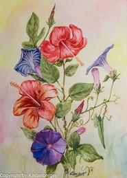 Blumen mit Wicke