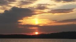 Triple Sun Sunset