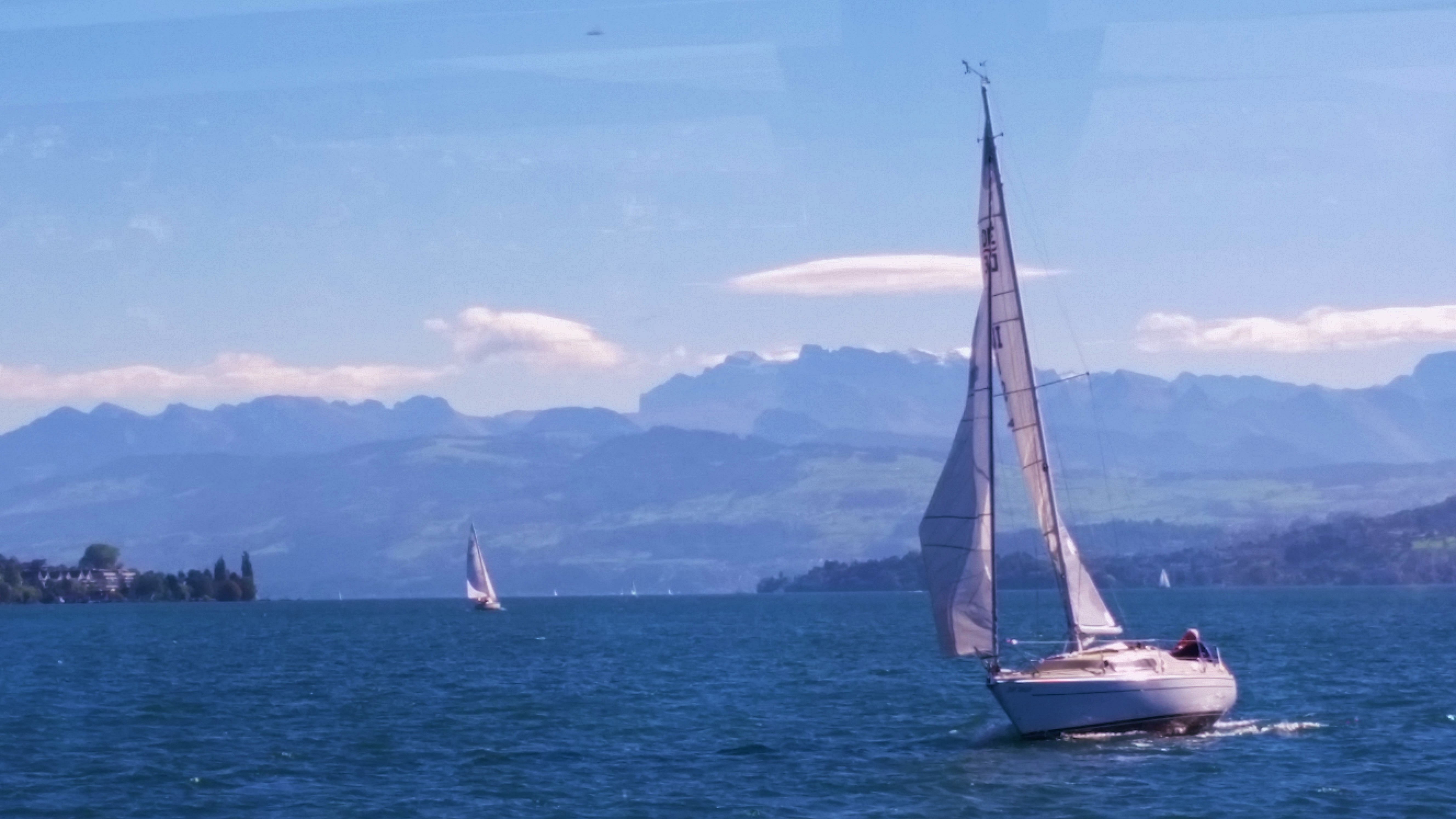 Sailboats on Lake Zurich