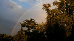 Rainbow Promises from Our Porch