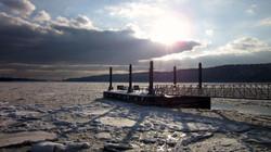 Winter Ice on Hudson River