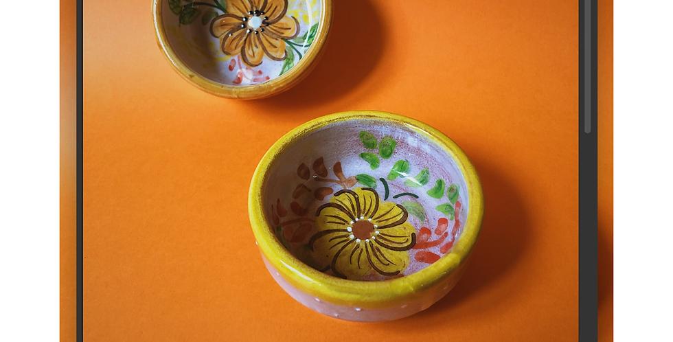 Small Bowl w/ Orange Flowers