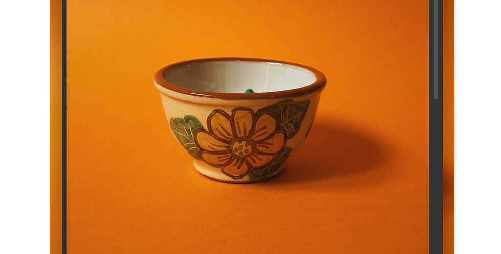 Small Bowl Orange Flowers