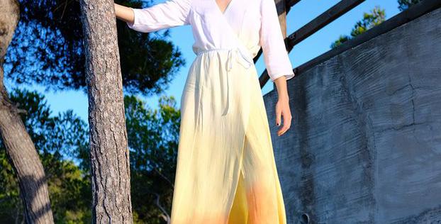 Golden Hour Wrap Dress