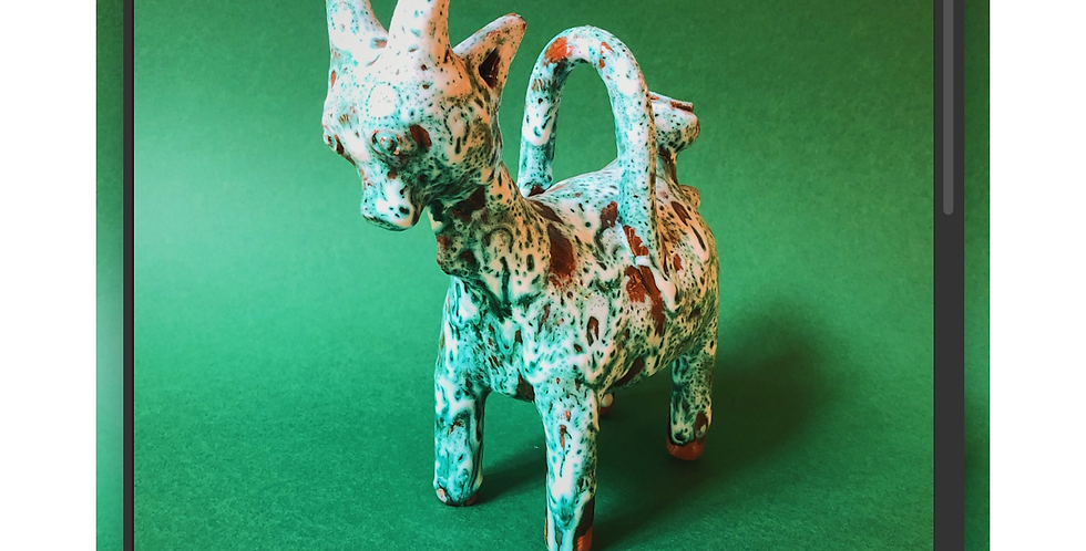 Goat Bottle / Vase