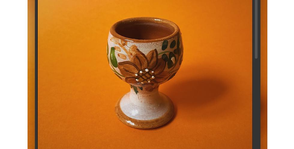 Egg Holder w/ Orange Flowers