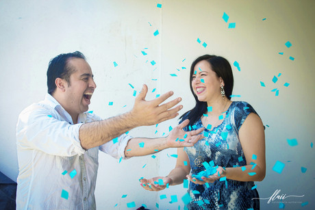 Manuel y Rocío van a tener ---- ¡niño!