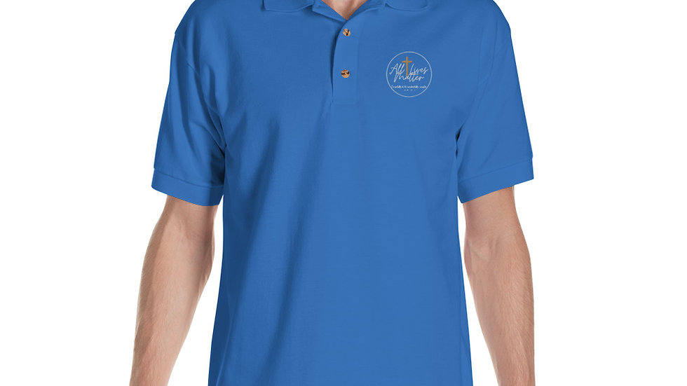 All Lives Matter Logo Embroidered Polo Shirt