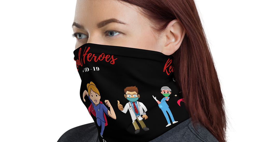 REAL HEROES (COVID-19) Neck Gaiter