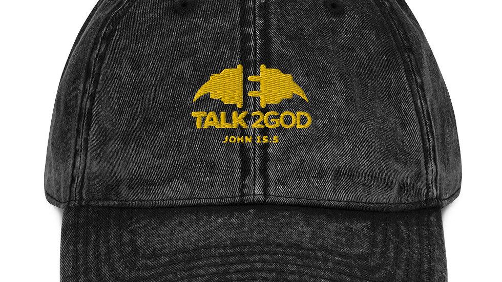 Talk2God Vintage Cotton Twill Cap