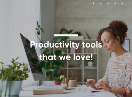 4 Productivity tools that we love