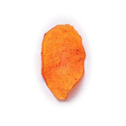 Chips de camote horneado enchilado