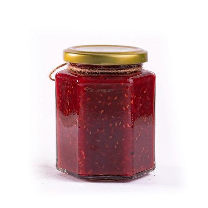 Mermelada de frambuesa con chile morita
